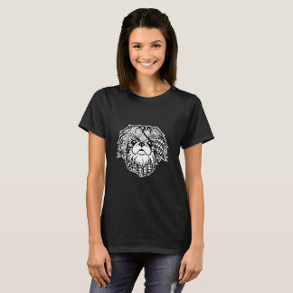 Pekingese Face Graphic Art T-Shirt