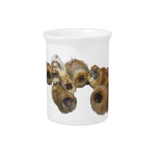 Pekingese Group Beverage Pitchers