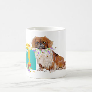 Pekingese in a Party Mood Coffee Mug