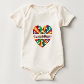 Pekingese Love Baby Bodysuit