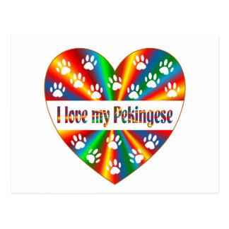 Pekingese Love Postcard