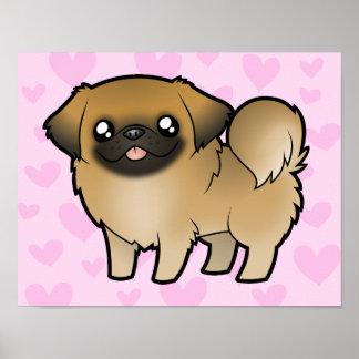 Pekingese Love (puppy cut) Poster