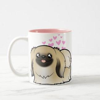 Pekingese Love (show cut) Two-Tone Coffee Mug