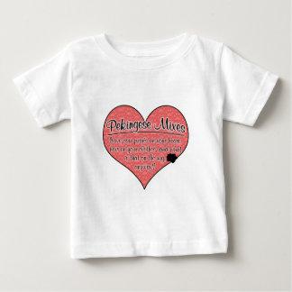 Pekingese Mixes Paw Prints Dog Humor Baby T-Shirt