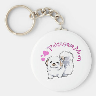 PEKINGESE MOM KEY RING