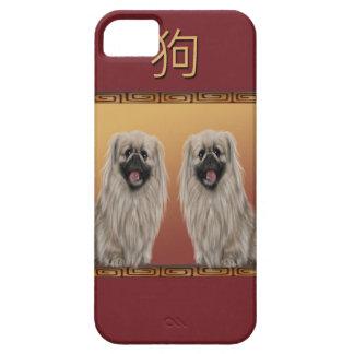 Pekingese on Asian Design Chinese New Year, Dog iPhone 5 Covers