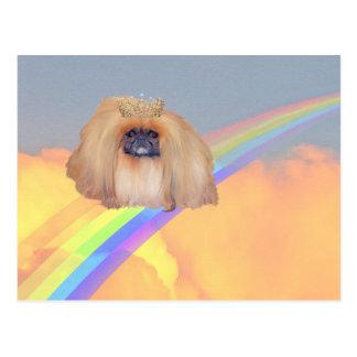 Pekingese Rainbow Postcard