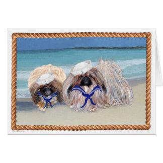 Pekingese Sailors Card