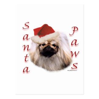 Pekingese Santa Paws Postcard