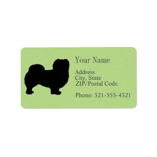 Pekingese Silhouette Address Label