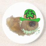 Pekingese St. Patrick's Day Beverage Coaster