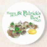 Pekingese St. Patrick's Day Drink Coasters