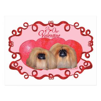 Pekingese Valentine Postcard