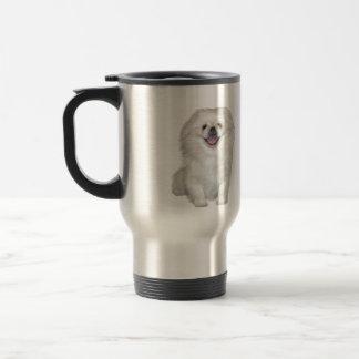 Pekingese (White #2) Travel Mug