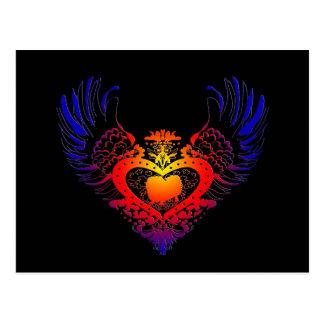 Pekingese Winged Heart Postcard