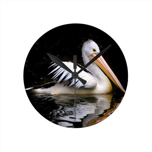 PELECANUS CONSPICILLATUS (Australian pelican) ~ Round Wallclock