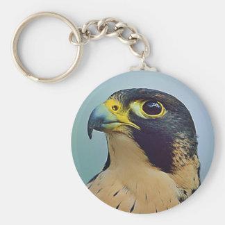 Pelegrine falcon portrait key chains