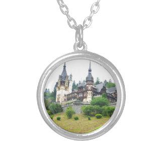 Peles Castle in Sinaia, Romania Silver Plated Necklace