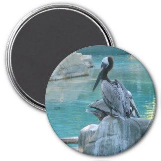 Pelican 7.5 Cm Round Magnet