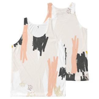 Pelican ?// Abstract Pattern Scribble Print Vest T