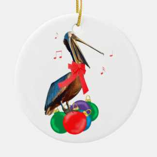 Pelican and Ornaments Christmas Ornament