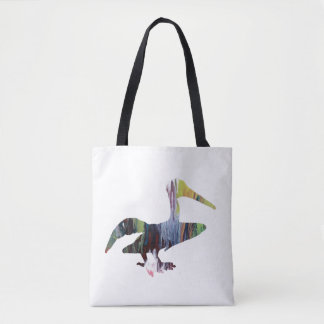 Pelican art tote bag