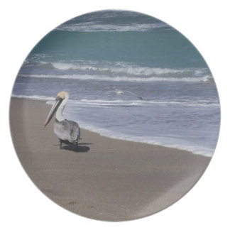 Pelican Beach Friends Plate