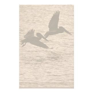 Pelican Birds Wildlife Animals Beach Custom Stationery