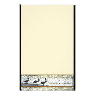Pelican Birds Wildlife Animals Customized Stationery