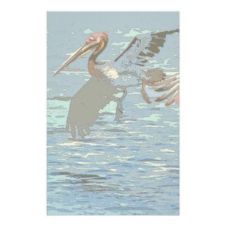 Pelican Birds Wildlife Animals Stationery Paper