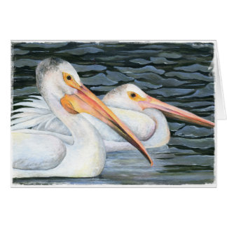 Pelican Couple Card