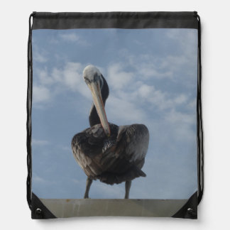 Pelican from Peru Drawstring Backpack