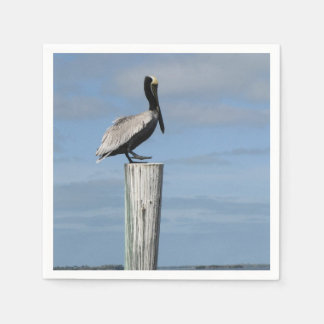 Pelican on a Post Napkins Paper Napkin