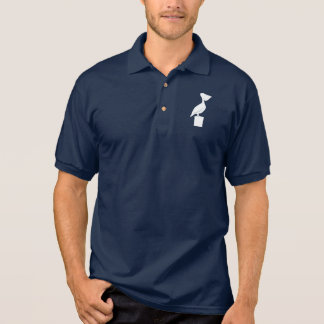 Pelican on a Post Polo Shirt