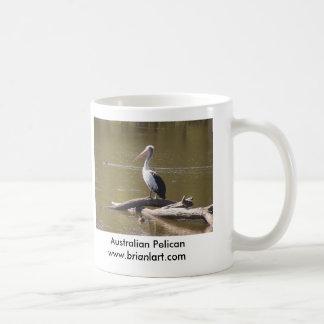 pelican on stump, coffee mug