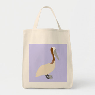 Pelican on White Bag