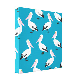 Pelican pattern canvas print
