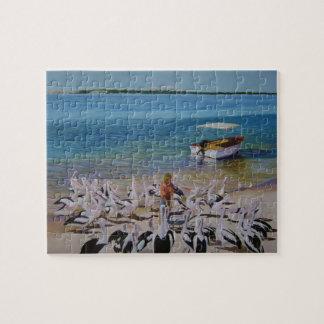 Pelican platter jigsaw puzzle