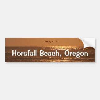 Pelican Sunset Horsfall Beach, Oregon Car Bumper Sticker