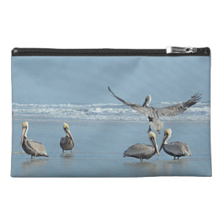 Pelicans Florida Beach Travel Accessory Bag