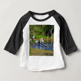 Pelicans in wetlands, Outback Australia Baby T-Shirt