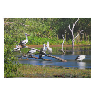 Pelicans in wetlands, Outback Australia Placemat