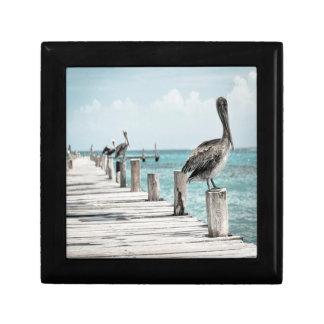 Pelicans Jewelry Keepsake Box