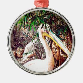 pelicans metal ornament