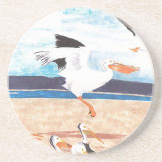 Pelicans Sandstone Coaster