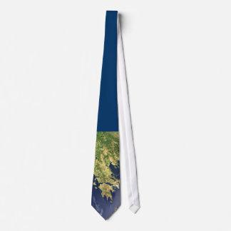 peloponnese greece satellite map blue - tie