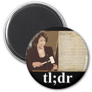Pelosi-Constitution tl dr Refrigerator Magnet