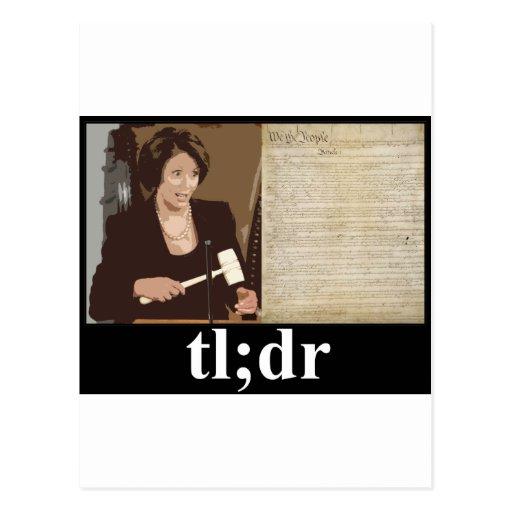 Pelosi-Constitution: tl;dr Post Cards