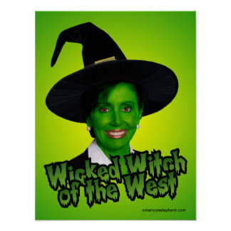 Pelsoi Wicked Witch of the West Print