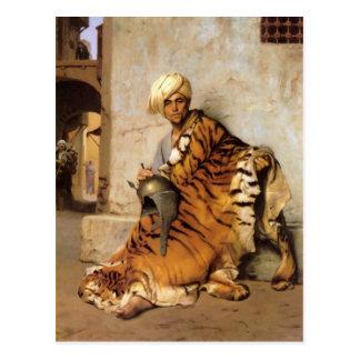 Pelt Merchant of Cairo by Jean-Leon Gerome Postcard